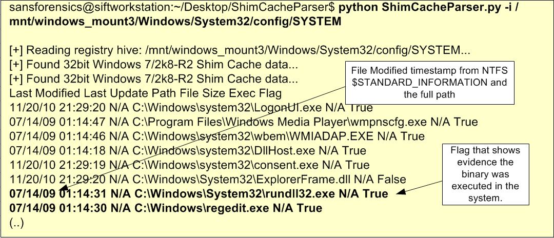 Digital Forensics – ShimCache Artifacts | Count Upon Security
